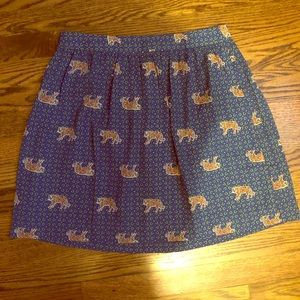 J. Crew Skirts - J. Crew dress skirt- Tiger prints